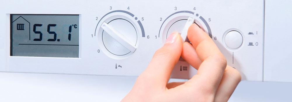Réglage température chaudière au gaz